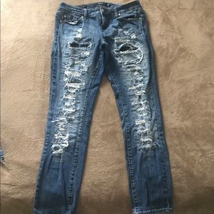 Torrid 12 Boyfriend Distressed Jeans